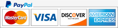 paypal mastercard visa discover american express payment support