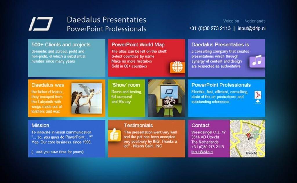 Daedalus fo(4)r Presentations