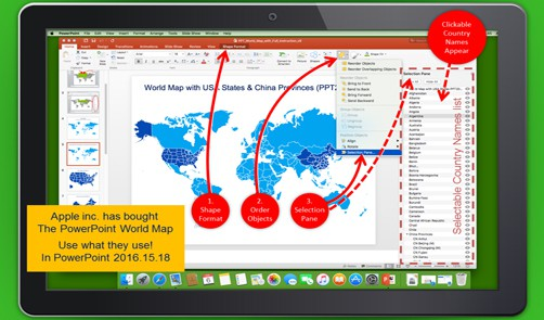 PowerPoint World Map on Mac