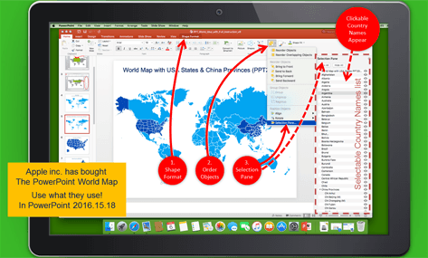 Powerpoint world map select countries by name never make mistakes powerpoint world map slide 4 gumiabroncs Images