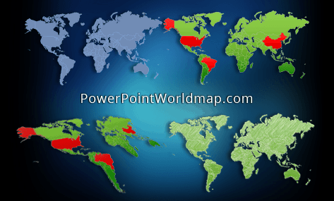 powerpoint world map slide